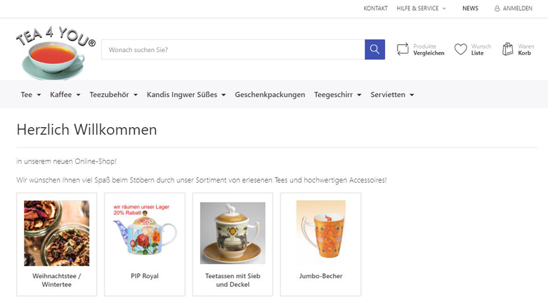 Website von Susanne Schuberth und Tea4You