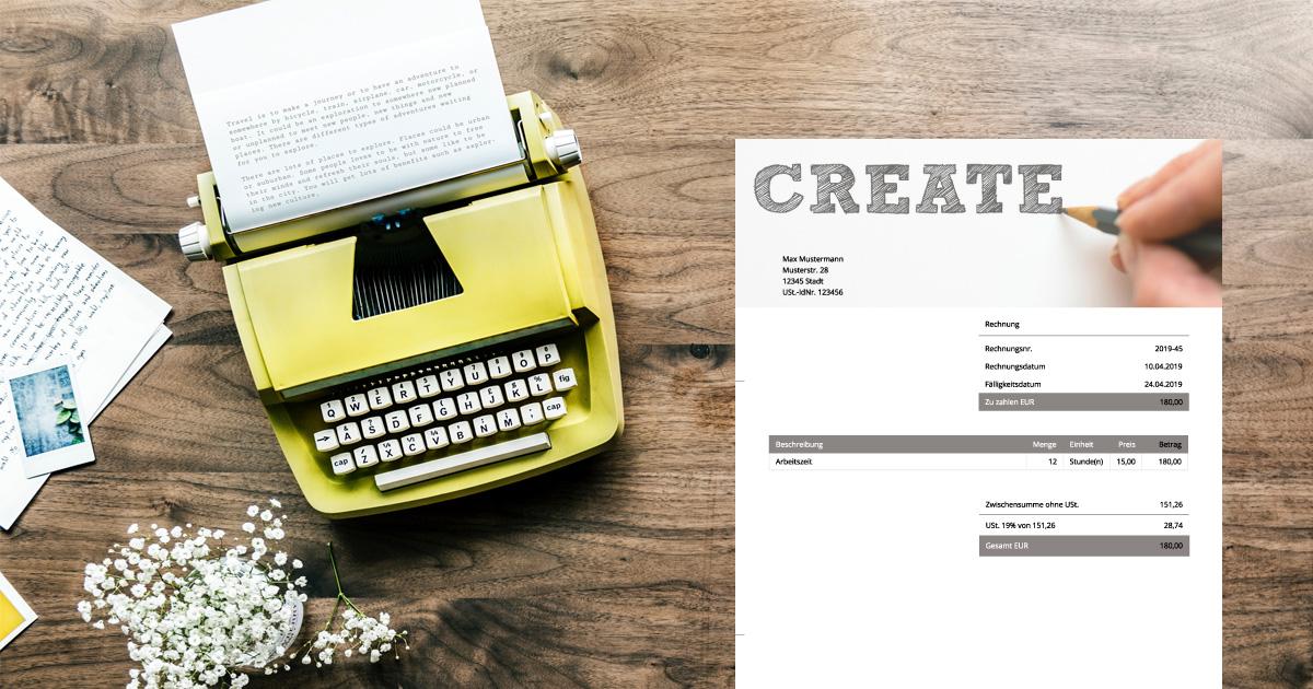 rechnung schreiben als copywriter debitoor rechnungsprogramm. Black Bedroom Furniture Sets. Home Design Ideas