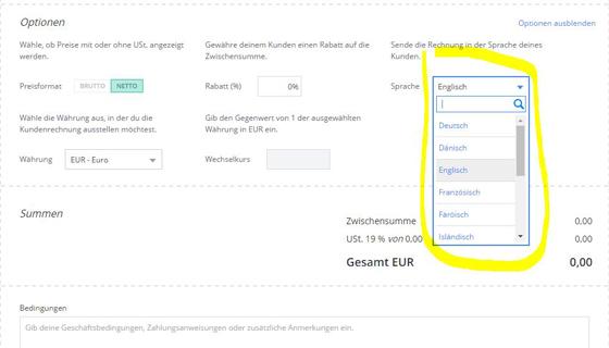 Rechnungen Für übersetzer In Debitoor Debitoor Rechnungsprogramm
